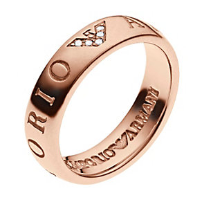 Emporio Armani Rose Gold Tone & Sterling Silver Ring P - Product number 3165523