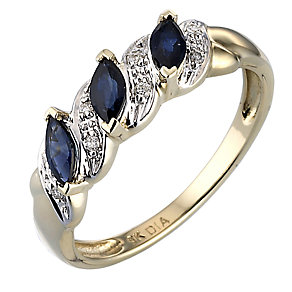 Sapphire & Diamond Ring - Product number 3172074