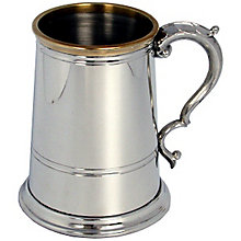 Brass Lipped Pewter Tankard - Product number 3217655