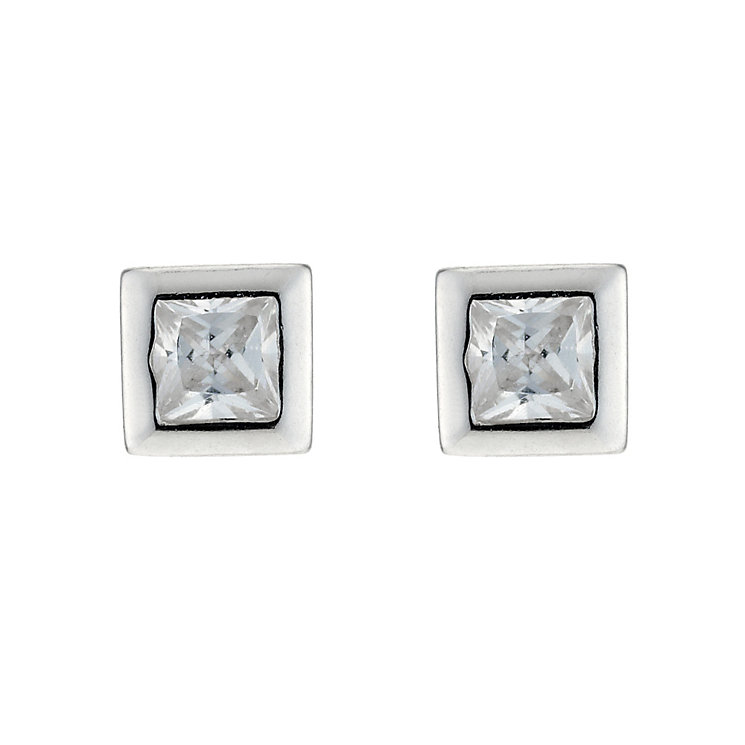 Square Silver Earrings - Product number 3222640