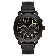 Emporio Armani Men's Ion Plated Black Strap Watch - Product number 3234819