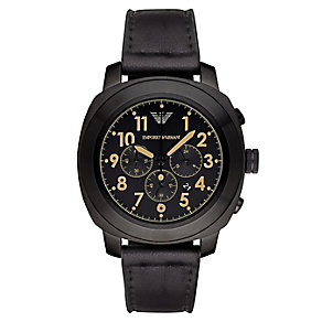 Emporio Armani Men's Ion Tone Black Strap Watch - Product number 3234819