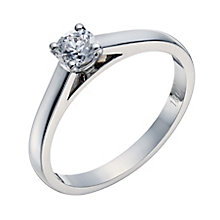 18ct white gold 33pt claw set mounted solitaire diamond ring - Product number 3272583