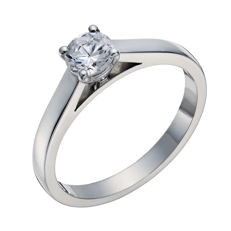 18ct white gold 0.50ct mounted solitaire diamond ring - Product number 3272915
