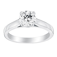 18ct white gold one carat claw set solitaire diamond ring - Product number 3273334