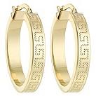 9ct gold engraved hoop earrings - Product number 3307735