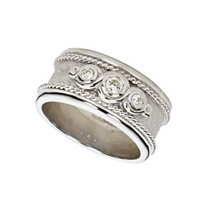 9ct white gold diamond wedding ring - Product number 3312054