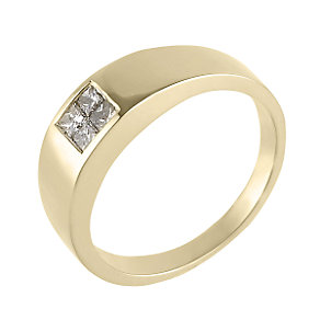 Men's 18ct gold 45 point diamond ring. - Product number 3336743