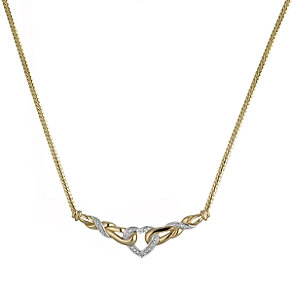 9ct Gold Diamond Heart Collar - Product number 3339750