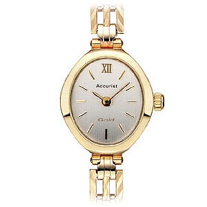 Accurist Ladies' 9ct Gold Watch - Product number 3385582