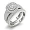 18ct white gold 1ct double halo cushion diamond bridal set - Product number 3395596