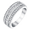 18ct white gold 1ct princess and round cut diamond band - Product number 3396517