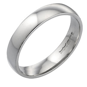 9ct White Gold 4mm Wedding Ring - Product number 3398900