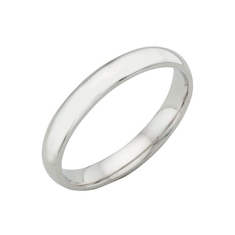 18ct white gold extra heavy 3mm court ring