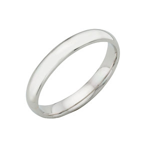 18ct white gold extra heavy 3mm court ring - Product number 3399400