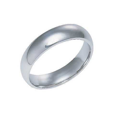 18ct white gold extra heavy 5mm court ring