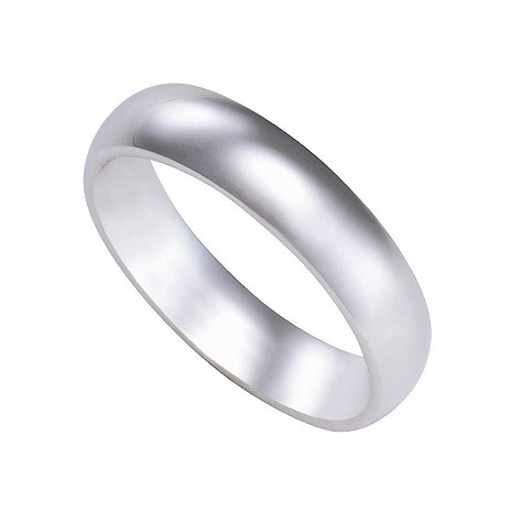 9ct white gold super heavy 5mm court ring