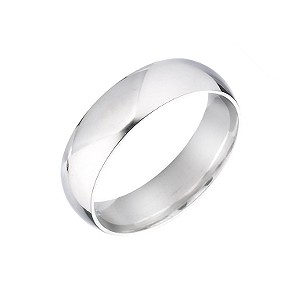 18ct White Gold Extra Heavy Wedding 4mm Ring