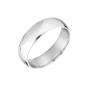 18ct White Gold Extra Heavy Wedding 5mm Ring