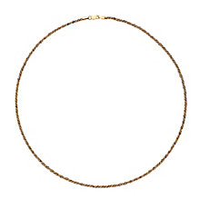 "9ct White & Rose Gold 18"" Twisting Rope Chain Necklace - Product number 3400158"