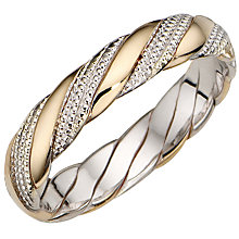 Bride's Two-colour Gold Ring - Product number 3401669