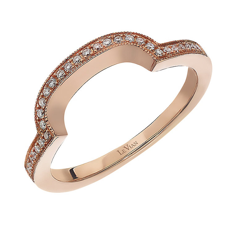 le vian 14ct strawberry gold vanilla wedding