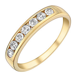 9ct Yellow Gold & Cubic Zirconia Eternity Ring - Product number 3404846