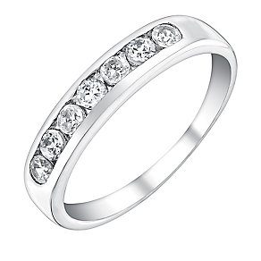 9ct White Gold & Cubic Zirconia Eternity Ring - Product number 3408949