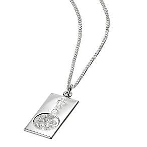 Sterling Silver St Christopher Ingot Pendant - Product number 3411745