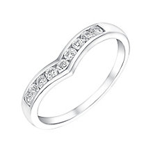 9ct White Gold & Cubic Zirconia Wishbone Eternity Ring - Product number 3412695