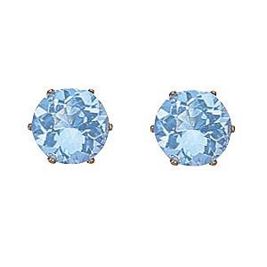 Blue Topaz Claw Set Stud Earrings