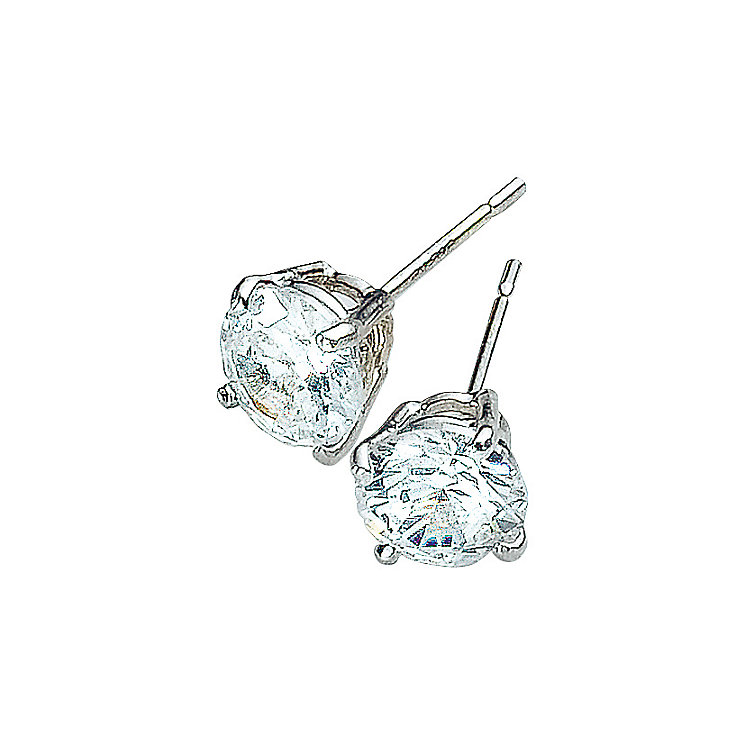 9ct White Gold Cubic Zirconia Earrings - Product number 3416356