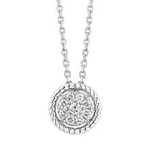 Neil Lane sterling silver 18pt diamond cluster pendant - Product number 3419800