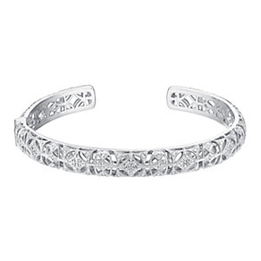 Sterling silver 31pt diamond bangle - Product number 3419851