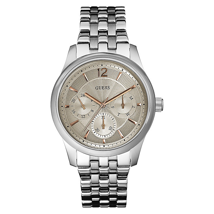 Guess Men's Beige Dial & Stainless Steel Bracelet Watch - Product number 3419908