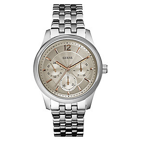 Guess Ladies' Beige Dial & Stainless Steel Bracelet Watch - Product number 3419908