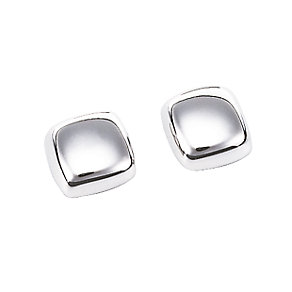 9ct white gold cube earrings - Product number 3421406