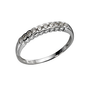 18ct white gold quarter carat half-eternity ring - Product number 3424871