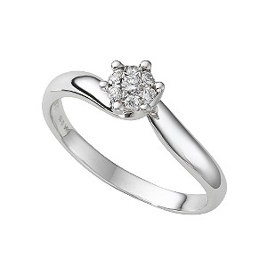 18ct white gold diamond cluster ring - Product number 3425223
