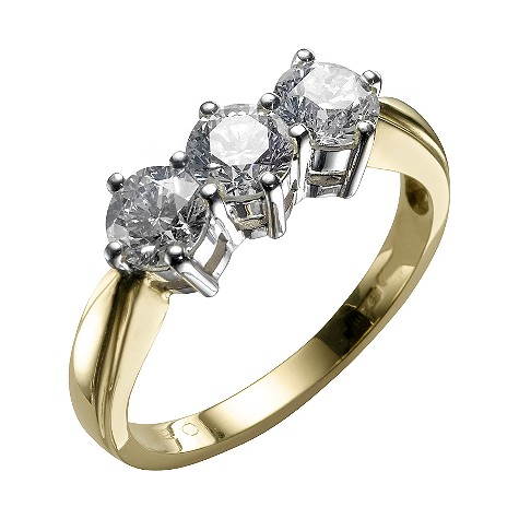 18ct gold one and a half carat diamond ring
