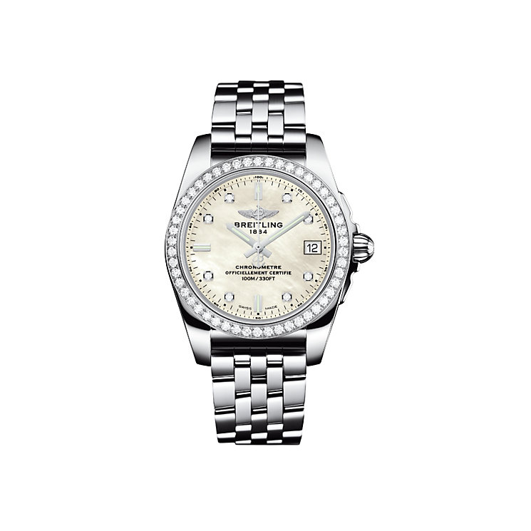 Breitling Galactic 36 ladies' mother of pearl bracelet watch - Product number 3426513