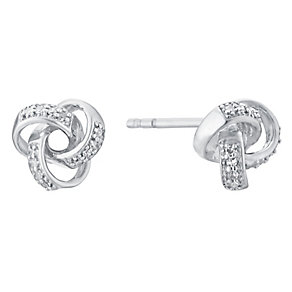 9ct white gold diamond earrings - Product number 3427447