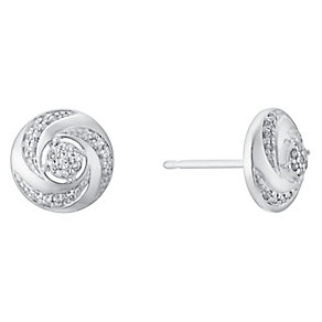 9ct white gold diamond earrings - Product number 3427463