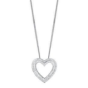 9ct white gold 15pt diamond pendant - Product number 3427676