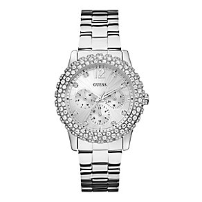 Guess Ladies' Crystal Set Stainless Steel Bracelet Watch - Product number 3427684