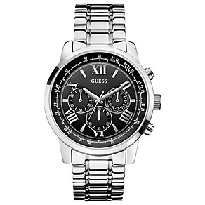 Guess Men's Black Dial & Stainless Steel Chronograph Watch - Product number 3427765