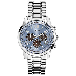 Guess Men's Blue Dial & Stainless Steel Bracelet Watch - Product number 3427803