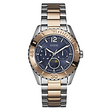 Guess Ladies' Blue Dial Two Tone Bracelet Watch - Product number 3429016