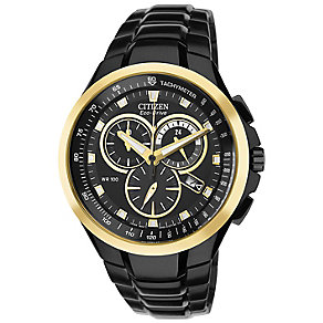 Citizen Eco-Drive Men's Black Ion-Plated Bracelet Watch - Product number 3434540