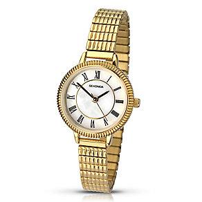 Sekonda Ladies' Yellow Gold Plate Link Bracelet Watch - Product number 3434591